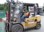 Recyc Center - Matt Harris on forklift