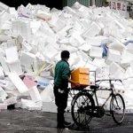 Styrofoam-Densifier-pile