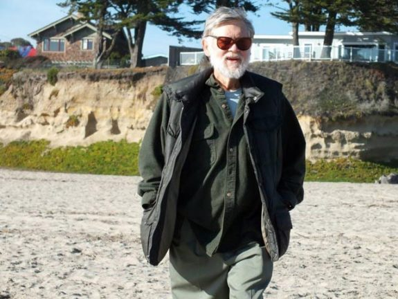 Fred McPherson, Walk on Seabright (Castle) Beach with Quinn, Roberta, and Fred, 2/4/13