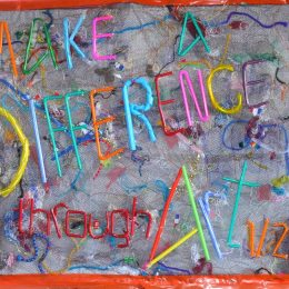 Make A Difference Reycled Art