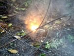 Wires starting fire