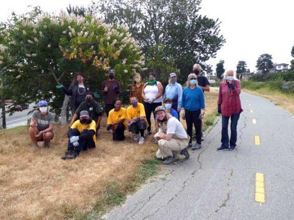 San Lorenzo River Estuary Project volunteer crew